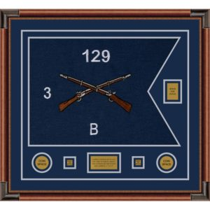 "Infantry Version 2 28"" x 20"" Guidon Design 2820-D2-M4 Framed"