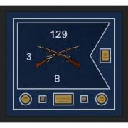 """Infantry Version 2 28"""" x 20"""" Guidon Design 2820-D2-M5 Framed"""