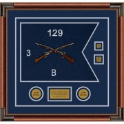 "Infantry Version 2 20"" x 15"" Guidon Design 2015-D3-M4 Framed"