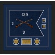 "Infantry Version 2 20"" x 15"" Guidon Design 2015-D3-M5 Frame"