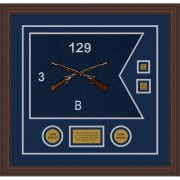 "Infantry Version 2 20"" x 15"" Guidon Design 2015-D3-M6 Framed"