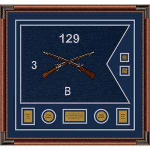 "Infantry Version 2 28"" x 20"" Guidon Design 2820-D3-M4 Framed"