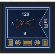"""Infantry Version 2 28"""" x 20"""" Guidon Design 2820-D3-M5 Framed"""