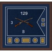 """Infantry Version 2 28"""" x 20"""" Guidon Design 2820-D3-M6 Framed"""
