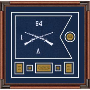 """Infantry Version 1 20"""" x 15"""" Guidon Design 2015-D1-M4 Framed"""