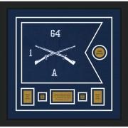 """Infantry Version 1 20"""" x 15"""" Guidon Design 2015-D1-M5 Framed"""