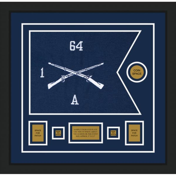 "Infantry Version 1 20"" x 15"" Guidon Design 2015-D1-M5 Framed"