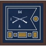 """Infantry Version 1 20"""" x 15"""" Guidon Design 2015-D1-M6 Framed"""
