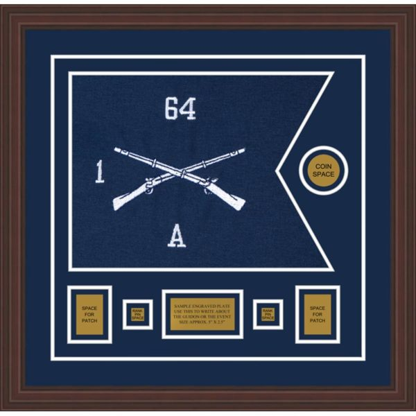 "Infantry Version 1 20"" x 15"" Guidon Design 2015-D1-M6 Framed"