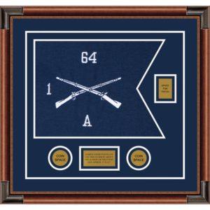 """Infantry Version 1 20"""" x 15"""" Guidon Design 2015-D2-M4 Framed"""