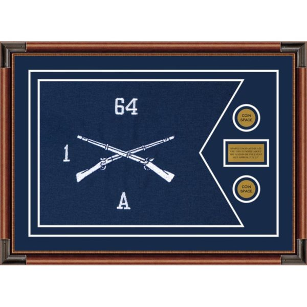 "Infantry Version 1 28"" x 20"" Guidon Design 2820-D1-M4 Framed"