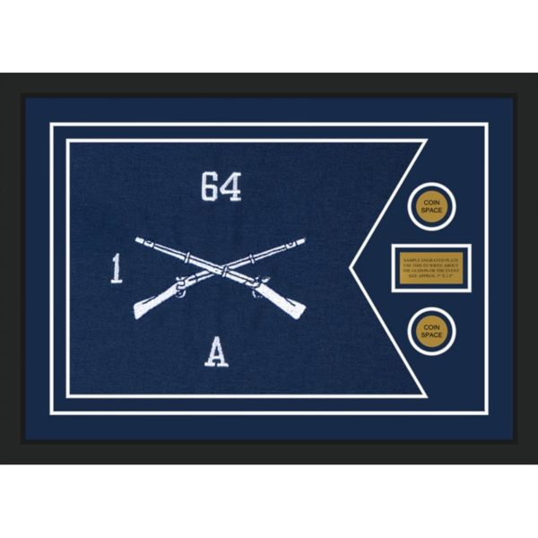 "Infantry Version 1 28"" x 20"" Guidon Design 2820-D1-M5 Framed"