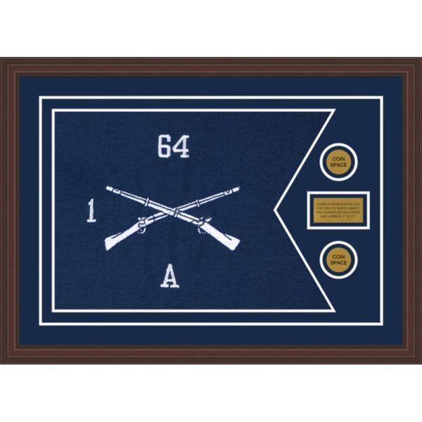 "Infantry Version 1 28"" x 20"" Guidon Design 2820-D1-M6 Framed"