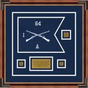 """Infantry Version 1 12"""" x 9"""" Guidon Design 129-D2-M1 Framed"""