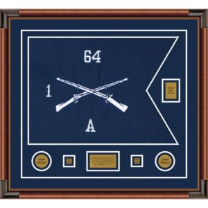 """Infantry Version 1 28"""" x 20"""" Guidon Design 2820-D2-M4 Framed"""
