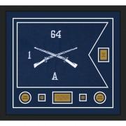 """Infantry Version 1 28"""" x 20"""" Guidon Design 2820-D2-M5 Framed"""