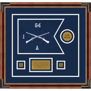 "Infantry Version 1 12"" x 9"" Guidon Design 129-D3-M1 Framed"