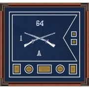 "Infantry Version 1 28"" x 20"" Guidon Design 2820-D3-M4 Frame"