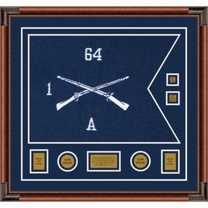 "Infantry Version 1 28"" x 20"" Guidon Design 2820-D3-M4 Frame"