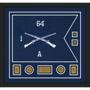 "Infantry Version 1 28"" x 20"" Guidon Design 2820-D3-M5 Framed"