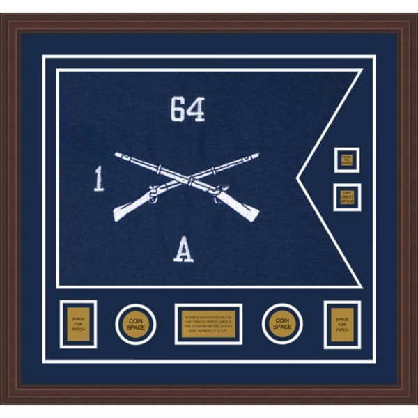 "Infantry Version 1 28"" x 20"" Guidon Design 2820-D3-M6 Framed"