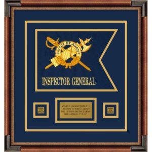 """Inspector General 12"""" x 9"""" Guidon Design 129-D1-M1 Framed"""