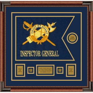 "Inspector General 20"" x 15"" Guidon Design 2015-D1-M4 Framed"