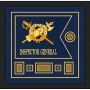 """Inspector General 20"""" x 15"""" Guidon Design 2015-D1-M5 Framed"""