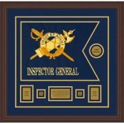 """Inspector General 20"""" x 15"""" Guidon Design 2015-D1-M6 Framed"""