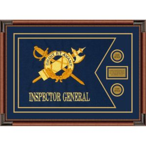 "Inspector General 28"" x 20"" Guidon Design 2820-D1-M4 Framed"