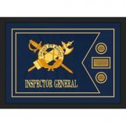 """Inspector General 28"""" x 20"""" Guidon Design 2820-D1-M5 Framed"""
