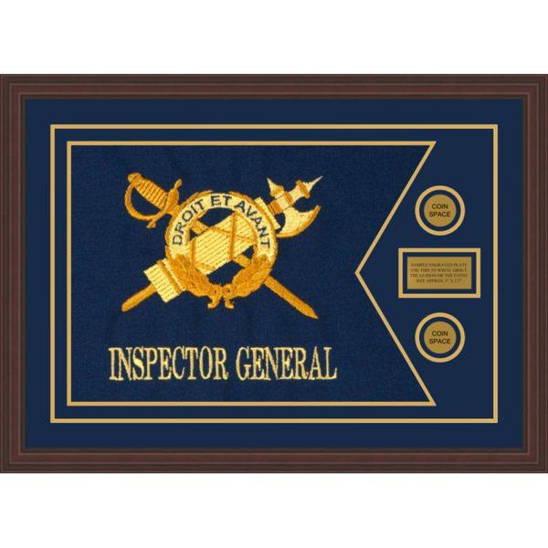 """Inspector General 28"""" x 20"""" Guidon Design 2820-D1-M6 Framed"""