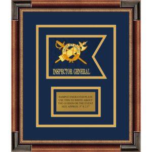"""Inspector General 7"""" x 5"""" Guidon Design 75-D1-M1 Framed"""
