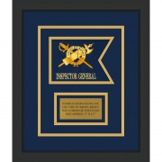 "Inspector General 7"" x 5"" Guidon Design 75-D1-M2 Framed"