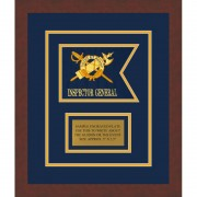 "Inspector General 7"" x 5"" Guidon Design 75-D1-M3 Framed"
