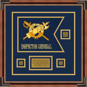 "Inspector General 12"" x 9"" Guidon Design 129-D2-M1 Framed"