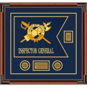 """Inspector General 20"""" x 15"""" Guidon Design 2015-D2-M4 Framed"""