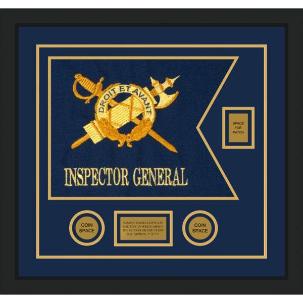 """Inspector General 20"""" x 15"""" Guidon Design 2015-D2-M5 Framed"""