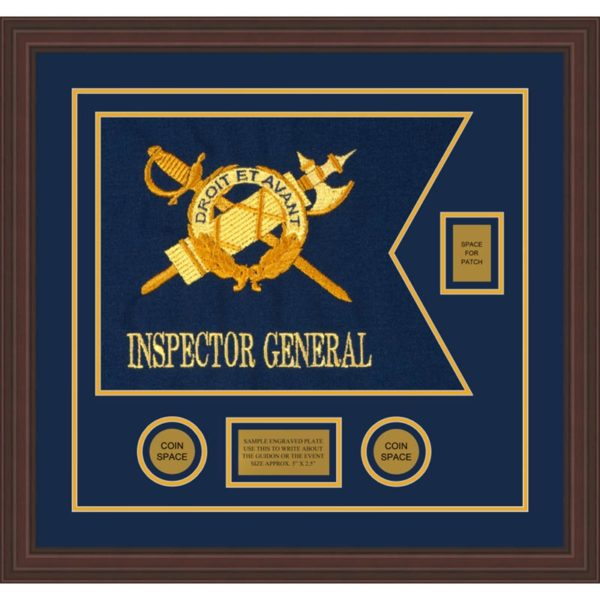 """Inspector General 20"""" x 15"""" Guidon Design 2015-D2-M6 Framed"""