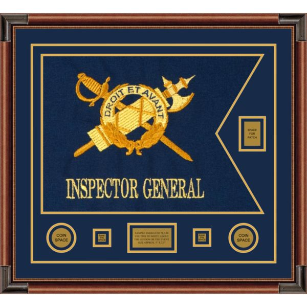 "Inspector General 28"" x 20"" Guidon Design 2820-D2-M4 Framed"