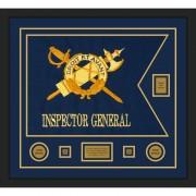 """Inspector General 28"""" x 20"""" Guidon Design 2820-D2-M5 Framed"""