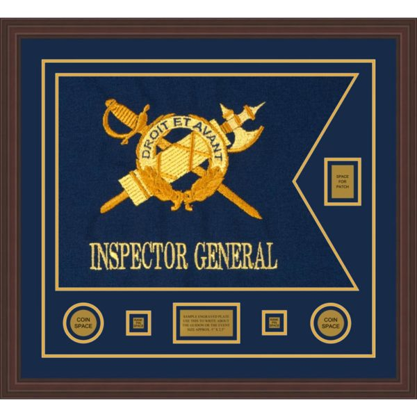 "Inspector General 28"" x 20"" Guidon Design 2820-D2-M6 Framed"