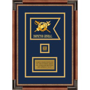 "Inspector General 7"" x 5"" Guidon Design 75-D2-M1 Framed"