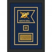 """Inspector General 7"""" x 5"""" Guidon Design 75-D2-M2 Framed"""