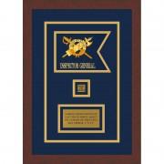 """Inspector General 7"""" x 5"""" Guidon Design 75-D2-M3 Framed"""