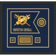 """Inspector General 12"""" x 9"""" Guidon Design 129-D3-M2 Framed"""