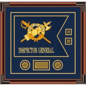 """Inspector General 20"""" x 15"""" Guidon Design 2015-D3-M4 Framed"""