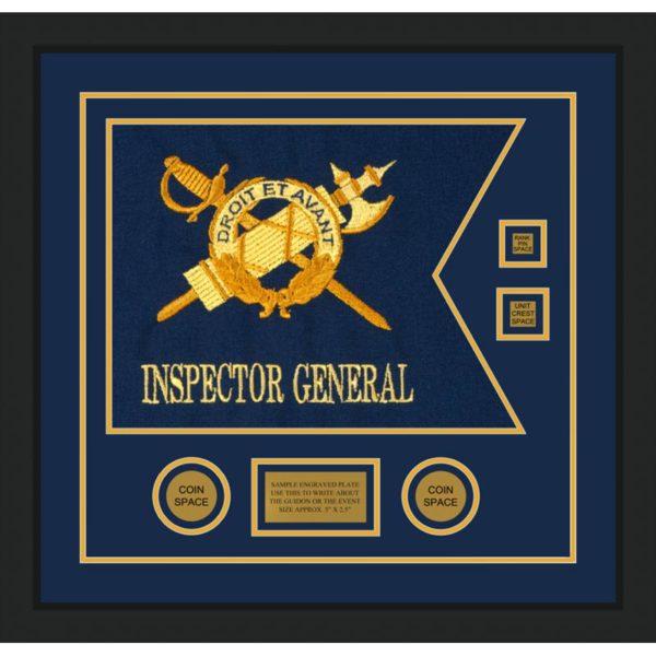 """Inspector General 20"""" x 15"""" Guidon Design 2015-D3-M5 Framed"""