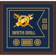 "Inspector General 20"" x 15"" Guidon Design 2015-D3-M6 Framed"