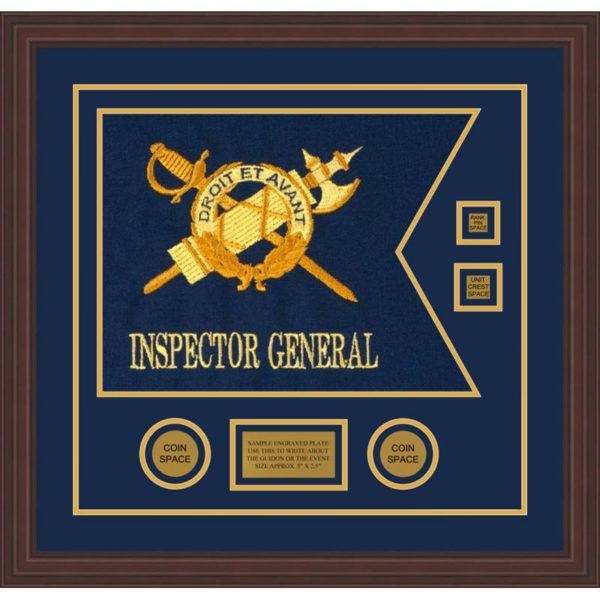 """Inspector General 20"""" x 15"""" Guidon Design 2015-D3-M6 Framed"""